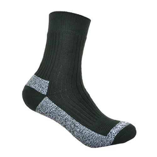 41oQ8YhugoL. SS500  - WB Socks Ladies Green Cotton Coolmax walking Socks 2 pairs per pack