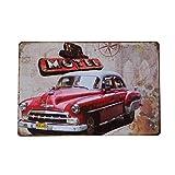 VORCOOL Motel Auto Garage Vintage dekorative schilder Zinn Metall Eisen Auto Zeichen malerei für Wand Haus bar café