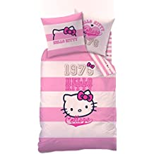 Wende Bettwäsche Set Hello Kitty 135x200cm 80x80cm 100% Baumwolle Brittany