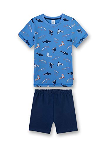 Sanetta Jungen Shirt Zweiteiliger Schlafanzug, Blau (Marina 50134), 92 (Herstellergröße: 092) - Marine-blau-jungen-schlafanzug
