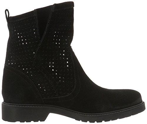 Buffalo London Damen 8106 Suede Kurzschaft Stiefel Schwarz (Black 01)