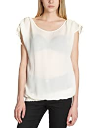Custommade - Blusa regular fit con cuello redondo de manga corta para mujer, talla 40, color Lamb White