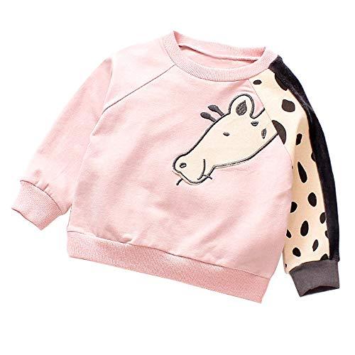 Beikoard_Babykleidung Mantel Baby Cartoon Giraffe Pullover mit Langen -