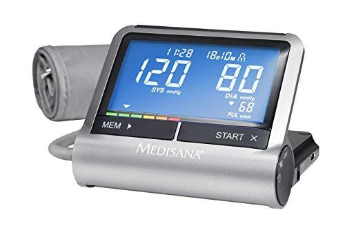 Erwachsene, Blutdruckmesser (Medisana CardioCompact Blutdruckmesser mit Reisewecker 51098, schwarz)