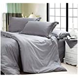 COT PRINTS® 300 TC Hotel Quality 100% Premium Cotton Satin Super King Size Double Bed Sheet Set (1 Sheet And 2 Pillow Covers)(Satin)(90 Inches X 108 Inches)