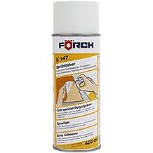 Spray adhesivo FÖRCH K147400ml–Pulverizador Fuerza Adhesivo con gran sofortklebe Fuerza Fuerza para pulverizar. Plus para cielo toff, piel sintética, plástico, aislante Alfombras, tejido, goma espuma,, piel, cartón, poliestireno, vinilo, goma