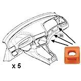 Clip de fijación embellecedor para panel de instrumentos de BMW Serie 3 [E46], Serie 7 [E65, E66], X3 [E83], aluminio, madera