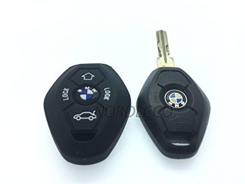 Preisvergleich Produktbild Hohe Qualität Silikon Schlüsselanhänger Fernbedienung 3/4Tasten Klappschlüssel Protector Case BMW 3E35E46E90E393836E91E60656667E61E53BMW 3567Series Modell M Sport 3M3M5X5X67Z3Z4(schwarz)