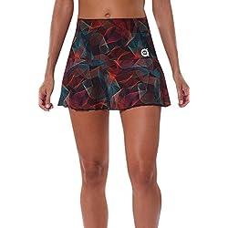 a40grados Sport & Style Lena - Falda Estampada para Mujer, Multicolor, Talla 38