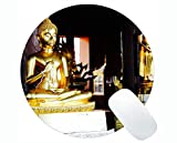 Life Quotes Gaming Round Mouse Pad, Bangkok Oggi Non Cammina, dovrà Correre Domani Round Mouse Pad
