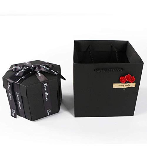 Valentinstag Memory Surprise Box Romantic Hexagon Multi Jubiläum Handmade Gifts Faltbar Explosion Hochzeit ()