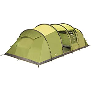vango waterproof odyssey 800 unisex outdoor tunnel tent available in green - 8 persons