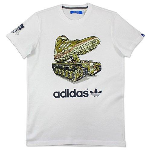 adidas Herren T-shirt Graphic Trefoil Tee Tape G Goldstan Tee   O53822