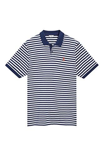 next Uomo Polo A Righe Vestibilità Regular Blu Navy