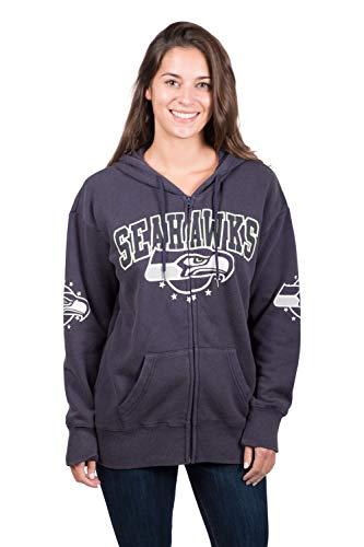 tle Seahawks Herren Fleece-Kapuzenpullover, Banner-Jacke, Größe XL, Marineblau ()