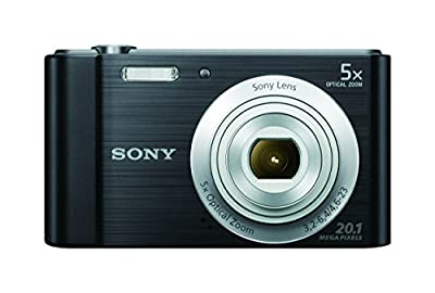 Sony DSC-W800 20.1 MP Point and Shoot Digital Camera with 5x optical zoom, 4 GB Card, Camera Case