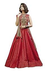 Mahotsav Silk Lehenga Choli (6923_Berry Red, Mossy Gold_Free Size)