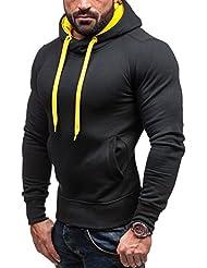BOLF Herren Sweatshirt Longsleeve Pullover Sweatjacke Kapuzenpullover J.STYLE 2071