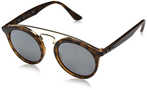 Ray Ban Unisex Sonnenbrille Gatsby I, Mehrfarbig (Gestell: Havana, Gläser: grau verspiegelt Silber 60926G), Medium (Herstellergröße: 46)