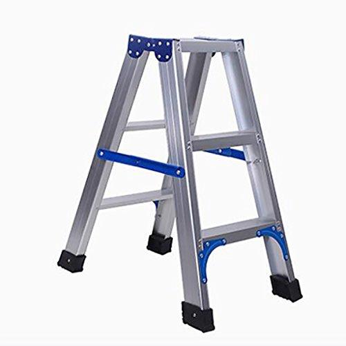 Stufenhocker, europäisches minimalistisches Silber, Leiter 3, 4 Schritte, Stuhl Dual-Use-Portable...