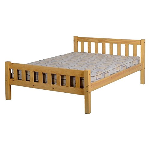 Seconique Carlow Wooden Bed Frame, 4ft 6in Double Bed Frame