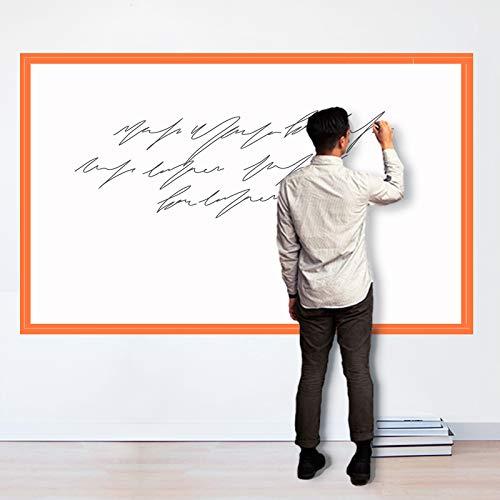 """Magjump Whiteboard, autoadhesiva, tablero de borrado en seco para vinilos decorativos para pared Rollo de pizarra extraíble para la escuela, oficina, hogar (blanco 47""""x 70"""")"""
