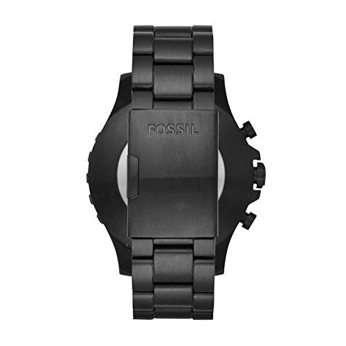 Fossil Herren Hybrid Smartwatch Q Nate - Edelstahl - Schwarz / Analoge Männeruhr im sportlichen Military-Design mit Smartfunktionen / Für Android & iOS - 3