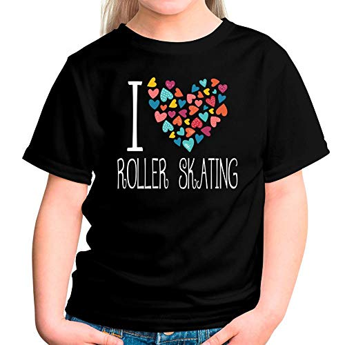 r Skating Colorful Hearts Mädchen T-Shirt 6 ()