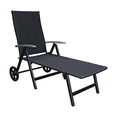 Alu Sonnenliege Gartenliege Rattanliege Rollliege Relaxliege Rollenliege Liege von D&S Vertriebs GmbH auf Gartenmöbel von Du und Dein Garten