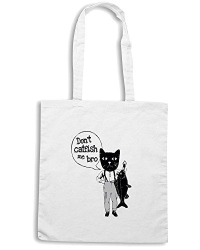 T-Shirtshock - Borsa Shopping FUN0962 CatfishTShirt Catfished White CU 6 (2) Bianco