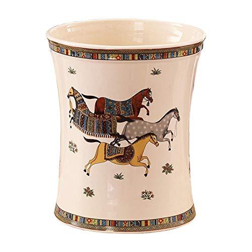 Craftscmq Jarrón de Ceramica Decoración de Porcelana Contenedor de Basura de cerámica Estudio Creativo de Dormitorio Cesta de Basura Paraguas de Almacenamiento