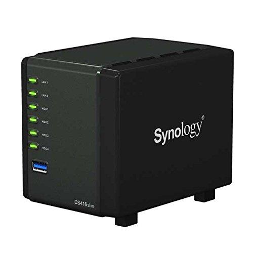 Synology  DS416slim NAS 1.0GHz Dualcore Bundle mit 4x 1000GB 2.5 Zoll Festplatten HGST | 0721456178210