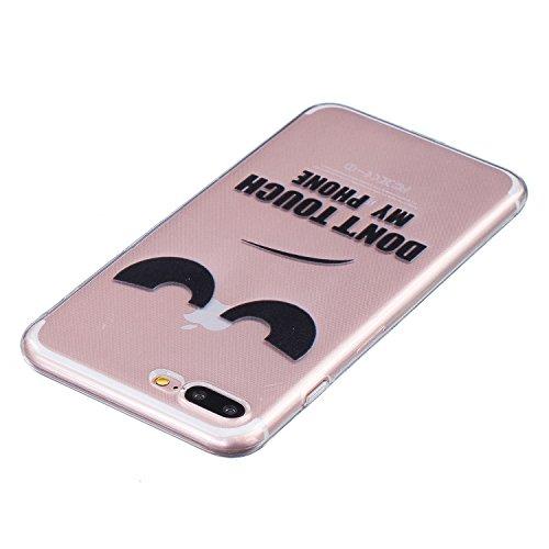 iPhone 7 Plus Hülle, iPhone 7 Plus Case Kreativ Bunt Muster Design Gel TPU Schutzhülle Transparent Soft Handy Tasche Hülle Case Cover Etui TPU Bumper Schale Schützt vor Schmutz und Kratzern für iPhone Auge