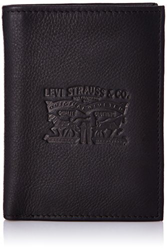 Levi's - Vintage Two Horse Vertical Coin Wallet, Carteras Hombre, Negro (Noir Regular Black), 2x13x10 cm (W x H L)
