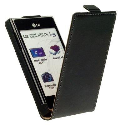 yayago Premium Flip-New-Style Leder Tasche Ledertasche -Ultra Flach- für LG Optimus L5...