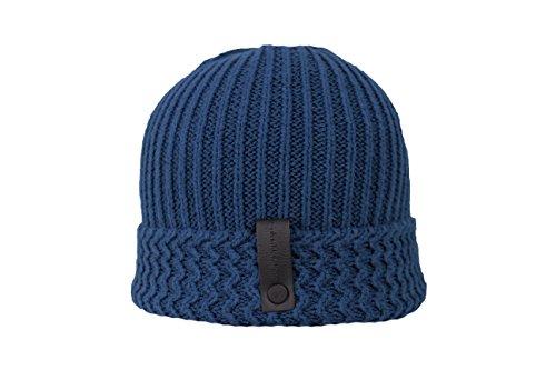 Calvin Klein Herren Wintermütze Mütze Strickmütze blau