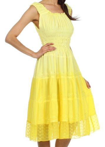Sakkas Frühling Mädchen Ombre Bauernkleid Buttercup Gelb