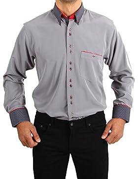 H K Mandel - Camisa casual - con botones - para hombre