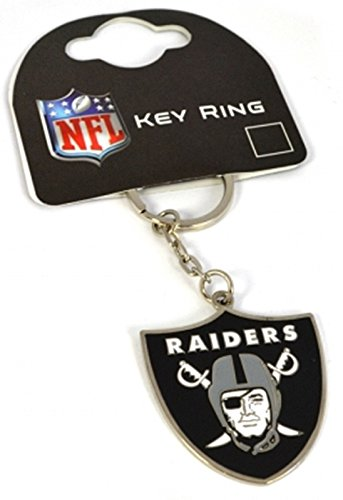 Oakland Raiders American Football NFL Keyring Keychain Metal Badge Official