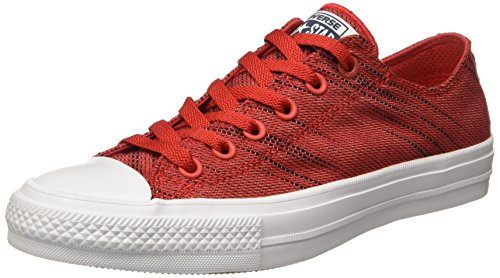 Converse - Chuck Taylor All Star Ii Ox, Scarpe sportive Unisex – Adulto Rosso/Bianco