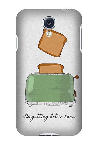 artboxONE Premium-Handyhülle Samsung Galaxy S4 It's Getting Hot in Here - Typografie Essen & Trinken Liebe Musik - Smartphone Case mit Kunstdruck hochwertiges Handycover kreatives Design Cover von Paper Pixel Print