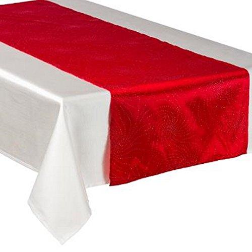 CHEMIN DE TABLE GALAXY 40X140CM ROUGE