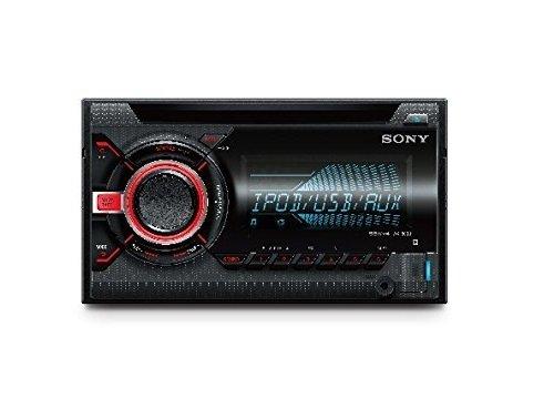 Sony WX-800UI 2 DIN CD Autoradio (USB und AUX Anschluss, Apple iPod/iPhone Control Funktion) für Radio/MP3/WMA/FLAC schwarz