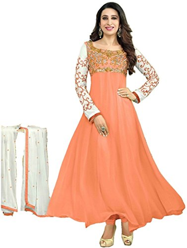Amit Fashions stilvolle Orange Farbe Georgette und Santoon Designer Salwar Anzug (Georgette Anzug)