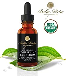 #1 Organic Nourishing Eye Serum - Lightens Dark Circles - Reduces Lines, Wrinkles, Bags & Puffiness - Makes The Skin Around Your Eyes Look Years Younger - All Natural USDA Certified Organic Ingredients - Safe & Effective For All Skin Types - 100% Satisfaction GUARANTEED!