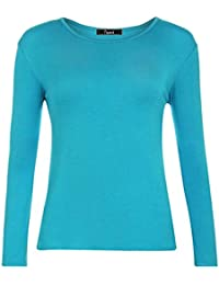 eb4d1ffbd Papaval Kids Girls Boys Plain Basic Top Long Sleeve Crew Uniform Jumper T- Shirt Tops