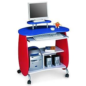 Kinder computertisch schreibtisch kansas auf rollen for Ecken schreibtisch