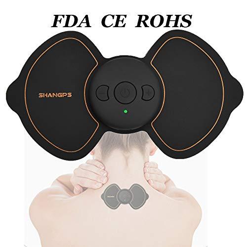 Electrodes tens,Électrostimulateur TENS Masseur Stimulateur Musculaire Masseur Électronique Pulse Relaxation Masseur, 5 Modes et 7 Niveaux de Force Optionnels Pour Soulager la Fatigue et Les