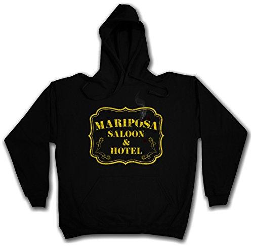 MARIPOSA SALOON & HOTEL HOODIE HOODED PULLOVER SWEATER SWEATSHIRT MAGLIONE FELPE CON CAPPUCCIO – Sizes S – 2XL Nero