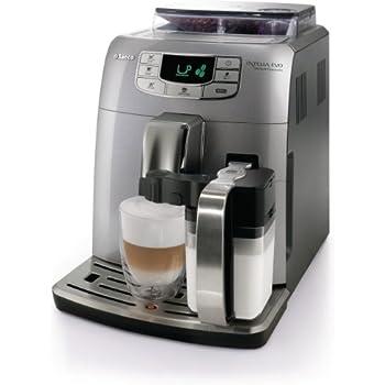 Saeco HD8753/95 Intelia Evo One Touch Cappucino Kaffeevollautomat (Milchbehälter, 15 bar) silber